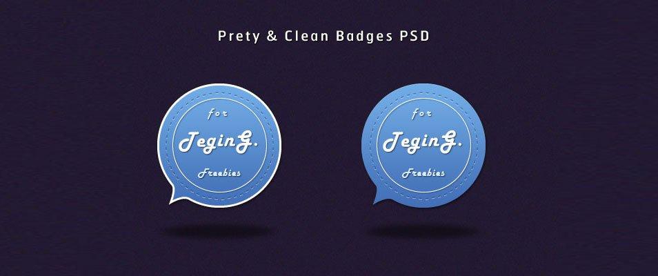 Pretty & Clean Badges (PSD)