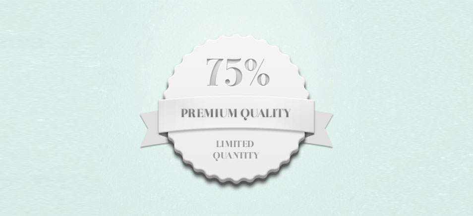 Quality Quantity Badge (Psd)