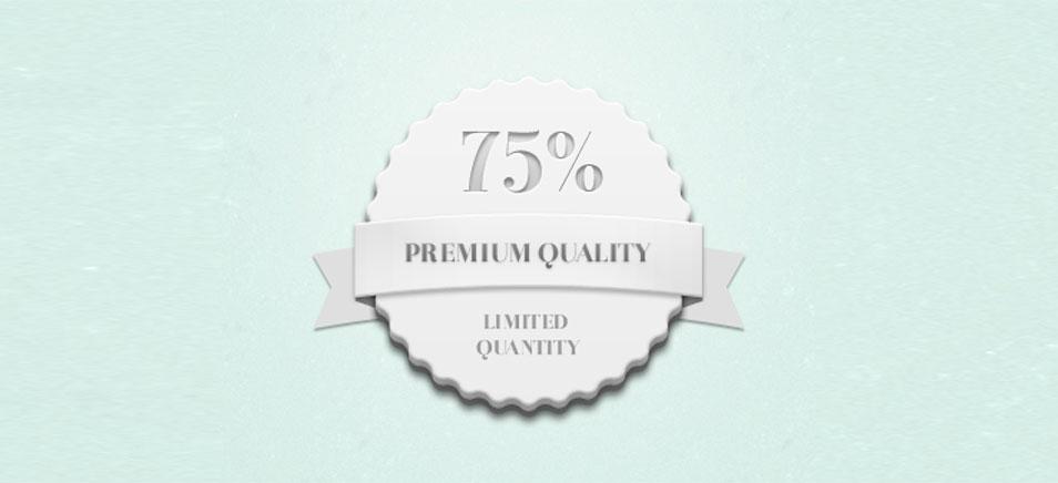 Quality Quantity Badge (Psd)