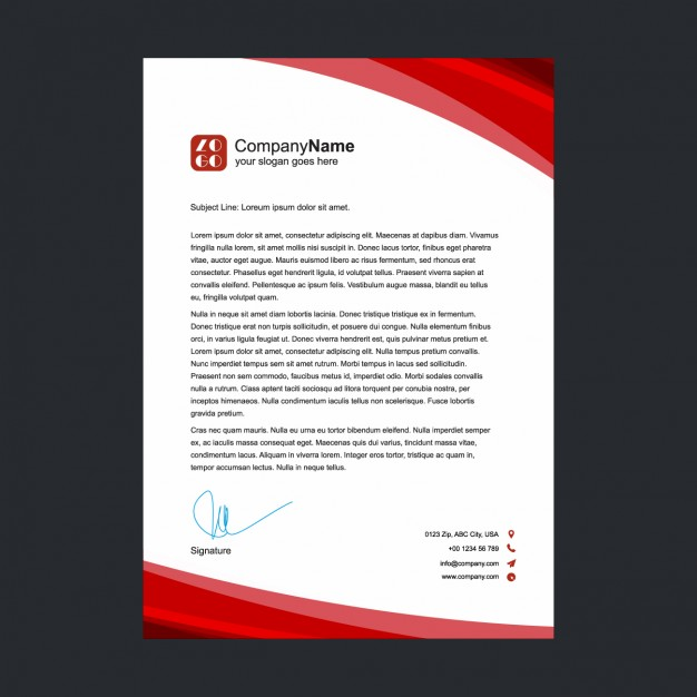 30 best free letterhead design mockup vector and psd templates red letterhead design free vector spiritdancerdesigns
