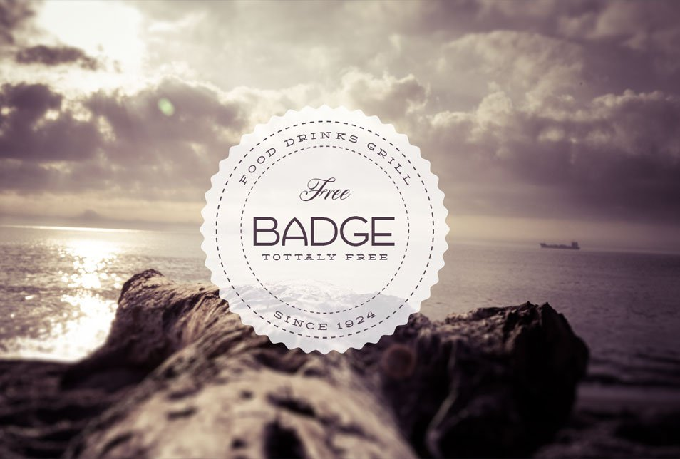 Retro Badge PSD Template