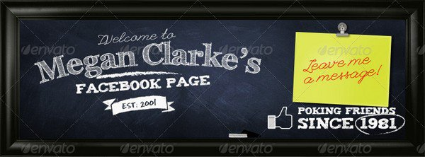 60 facebook cover psd templates with high resolution school chalkboard facebook timeline cover pronofoot35fo Image collections