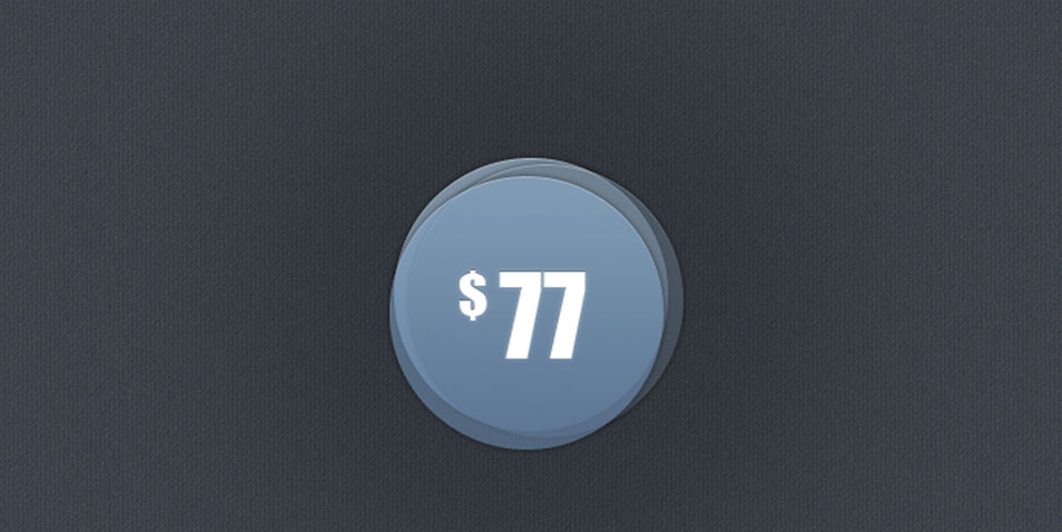 Transparent Rounded Ui Price Badge PSD