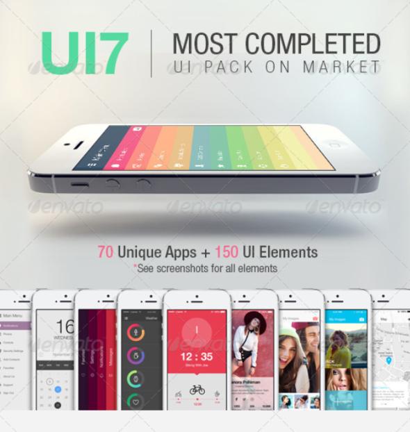 UI7 – Flat Bootstrap Mobile UI Phone App