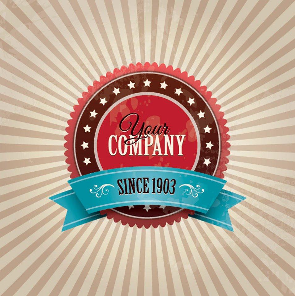 Vintage Company Badge Vector Graphic
