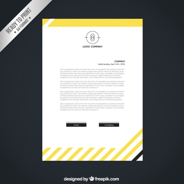 Yellow Company Letter Free Vector