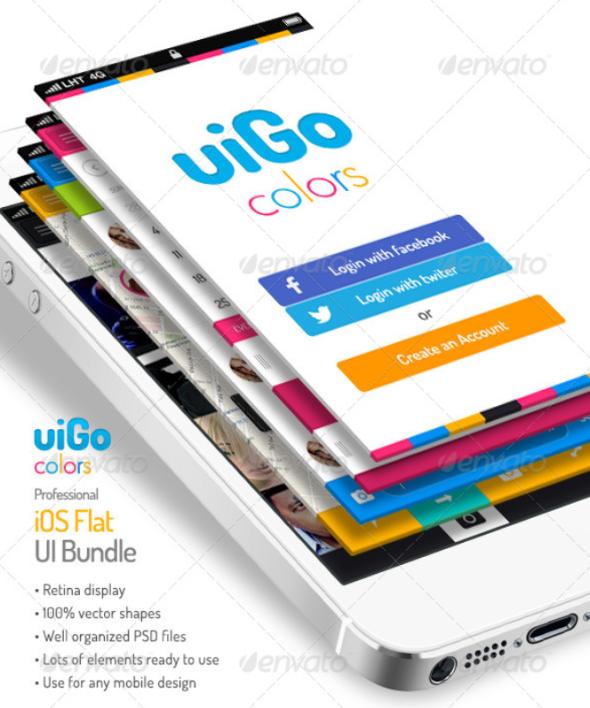 uiGo Colors – iOS Flat UI Bundle