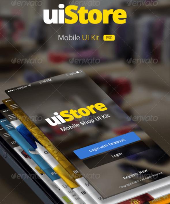 uiStore – Mobile UI Kit