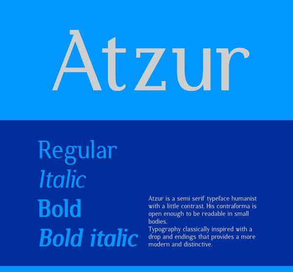Atzur Free Fonts