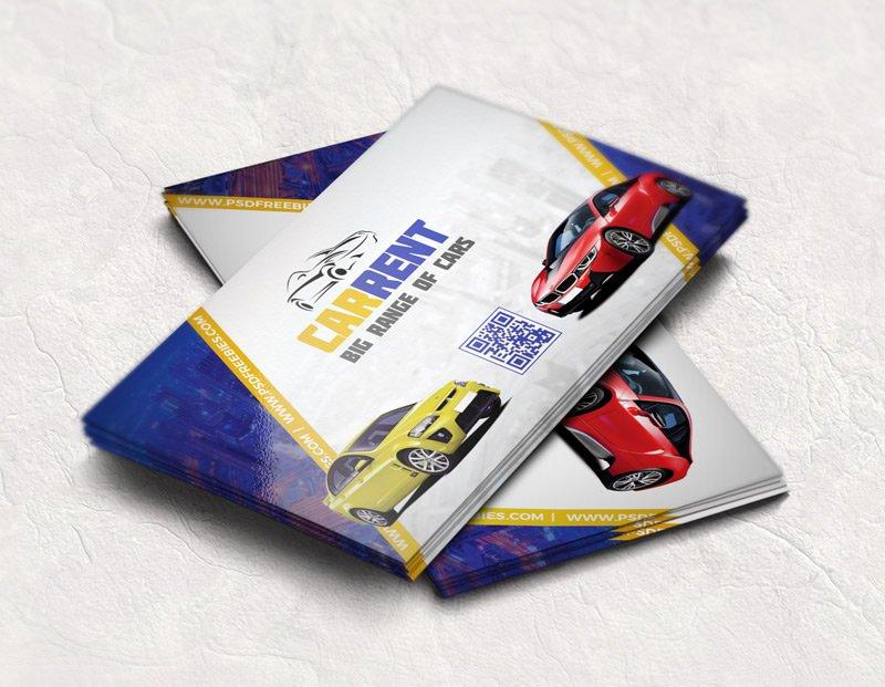 Car Dealer Business Card Template PSD