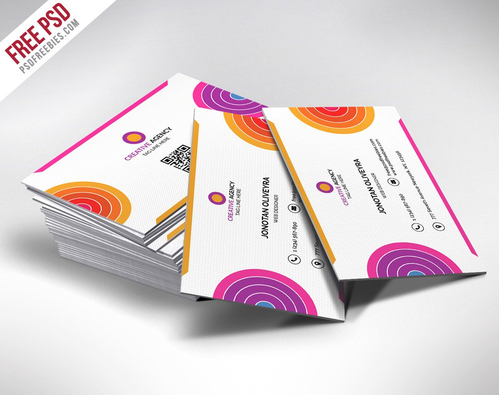 Colorful Business Card PSD