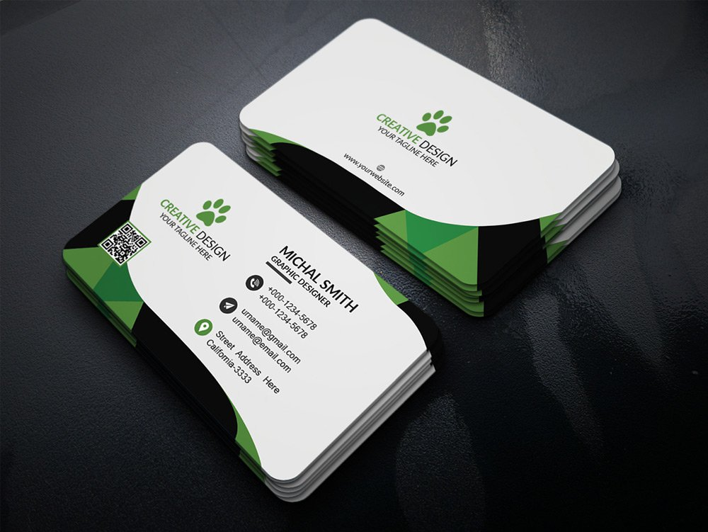 300 best free business card psd and vector templates corporate business card psd 2 wajeb Image collections