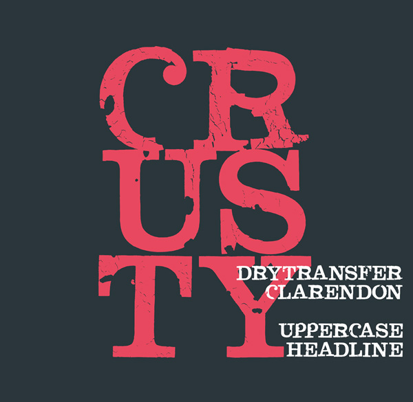 DryTransfer Clarendon Crusty Free Font