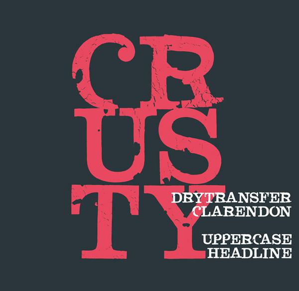 DryTransfer Clarendon Crusty Free Font