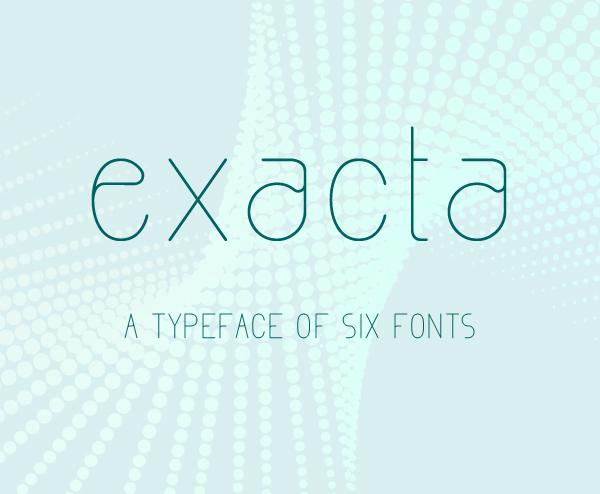 Exacta Free Font