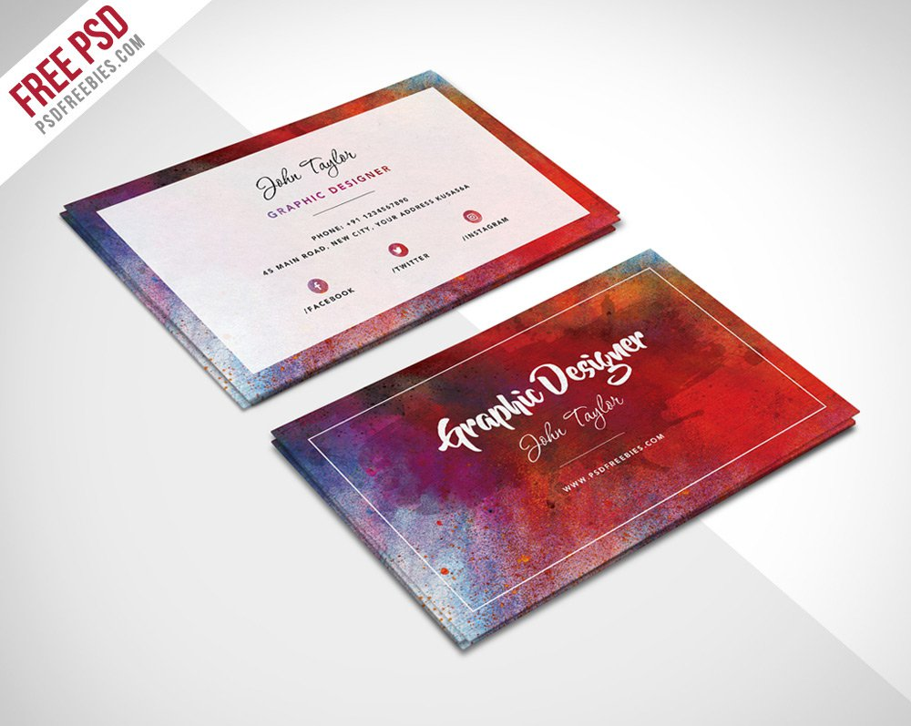 Free Abstract Business Card Template PSD