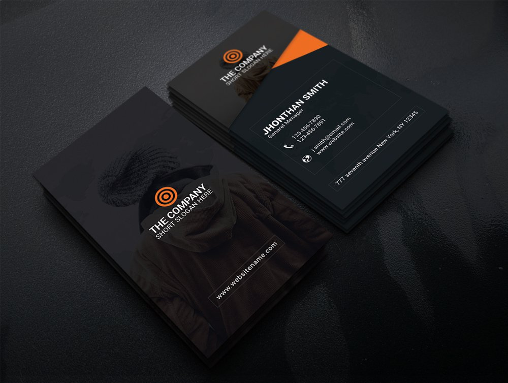 300 best free business card psd and vector templates free business card template psd 3 wajeb Choice Image