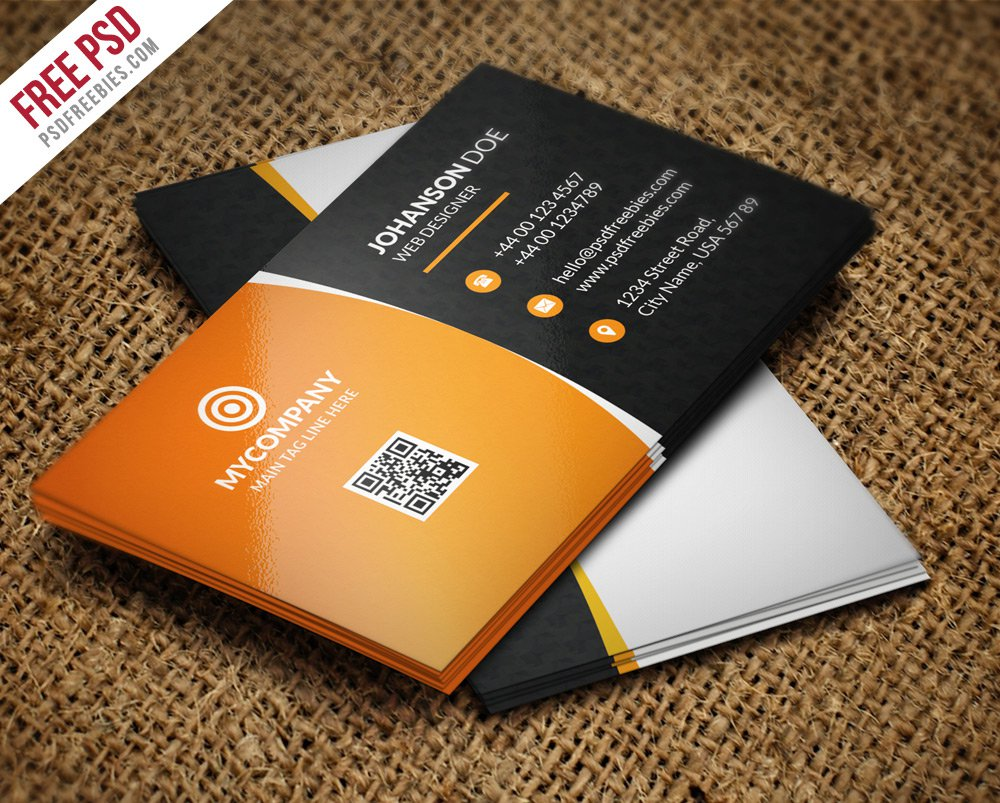 Free Corporate Business Card Bundle PSD