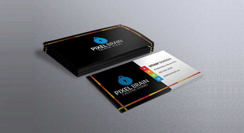 300 best free business card psd and vector templates free creative business card template psd cheaphphosting Choice Image
