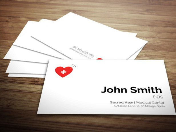 Free Medical Business Card Template PSD