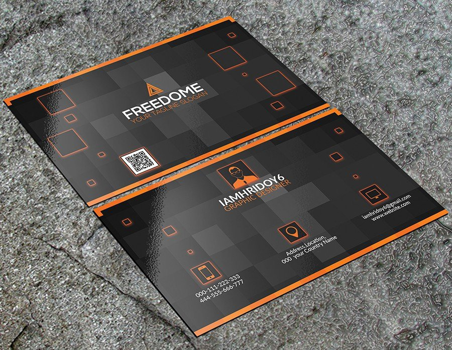 300 best free business card psd and vector templates free modern business card template psd flashek Images