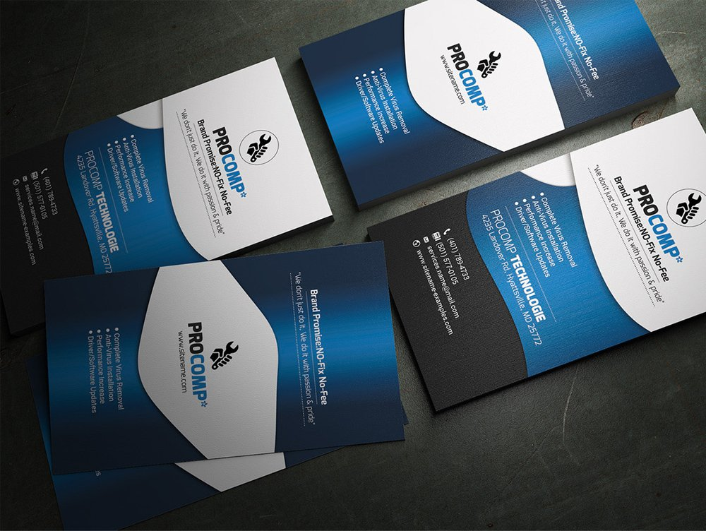 Best Free Business Card PSD And Vector Templates - It business cards templates