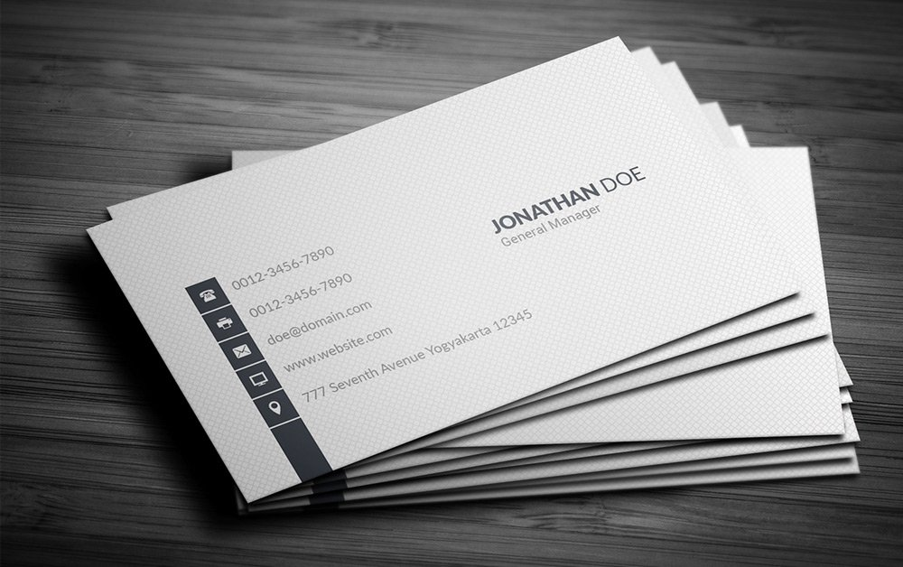 300 best free business card psd and vector templates for Free business card templates psd