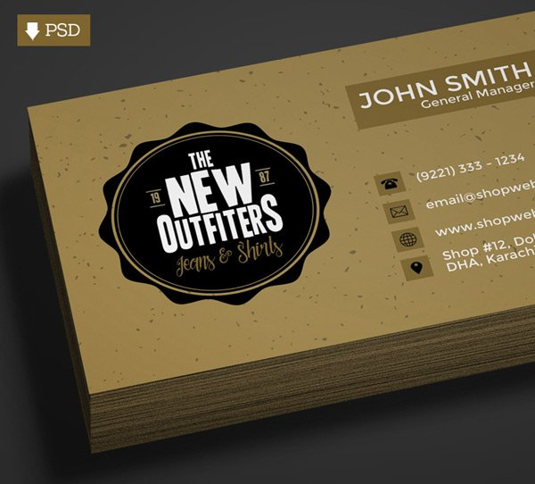 300 best free business card psd and vector templates free vintage business card template psd wajeb Images