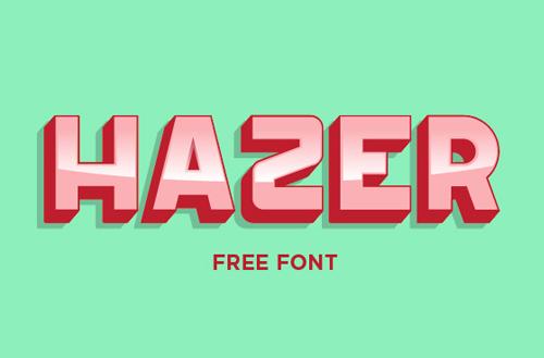 Hazer Typeface Free Font