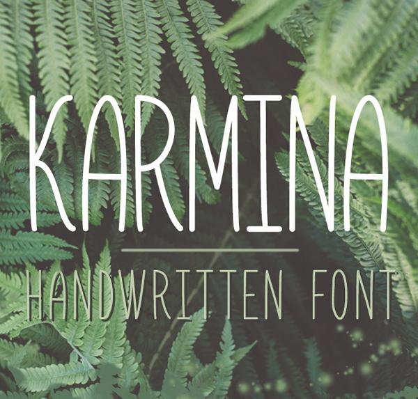 Karmina Handwritten Free Font