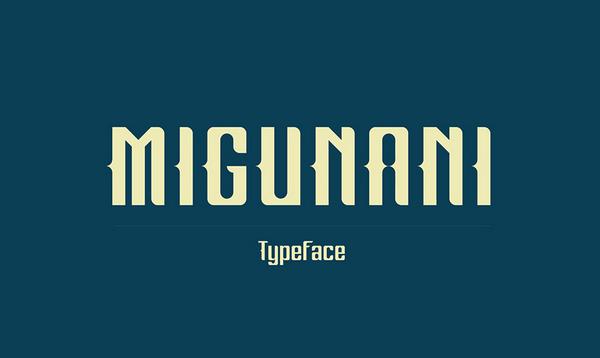 Migunani Free Fonts
