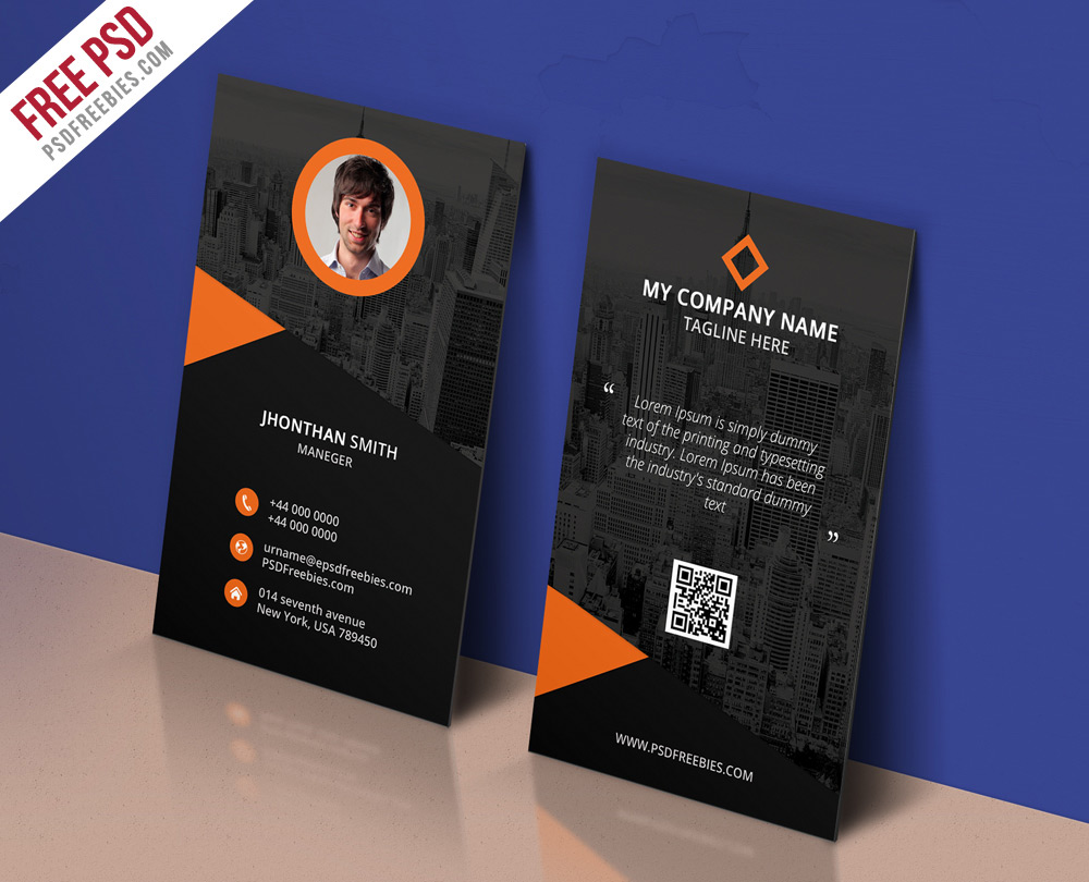 300 best free business card psd and vector templates modern corporate business card template psd flashek Images