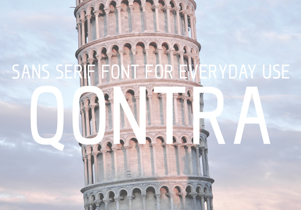 QONTRA Free Font
