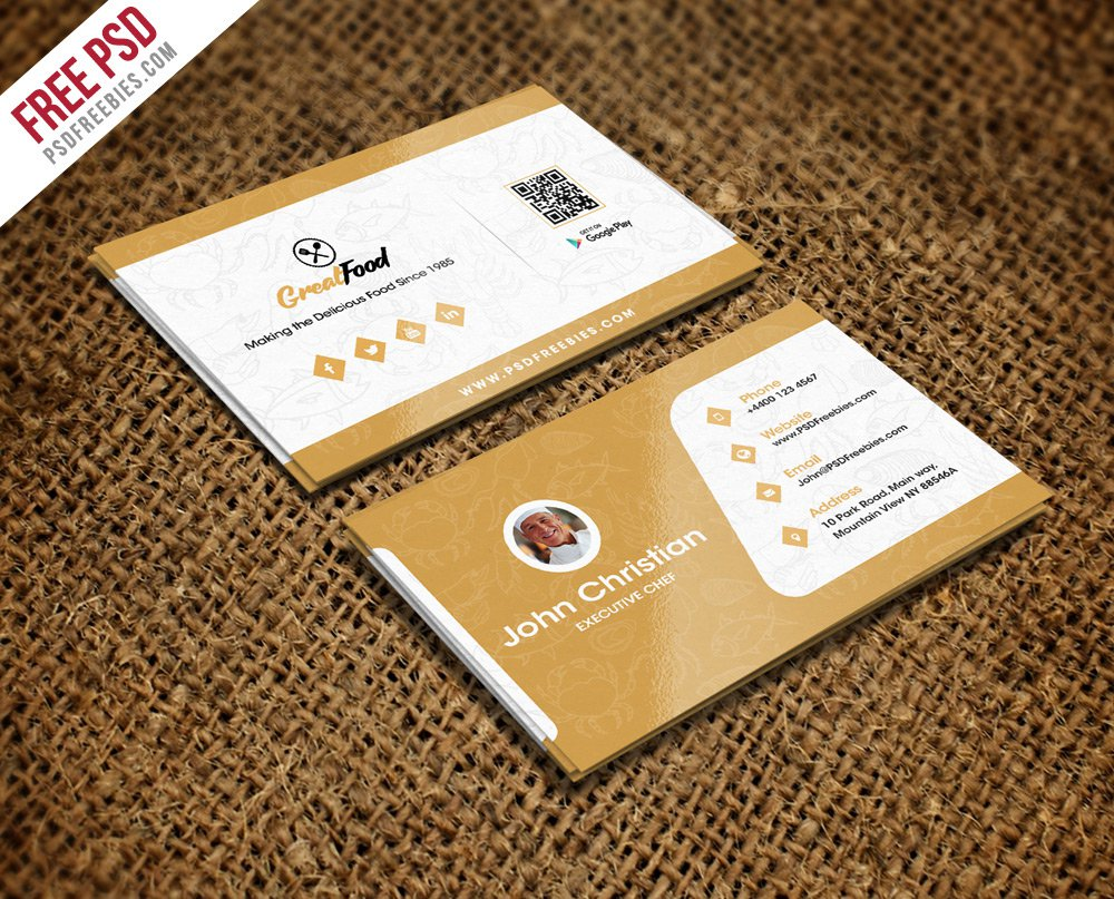 Restaurant Chef Business Card Template PSD