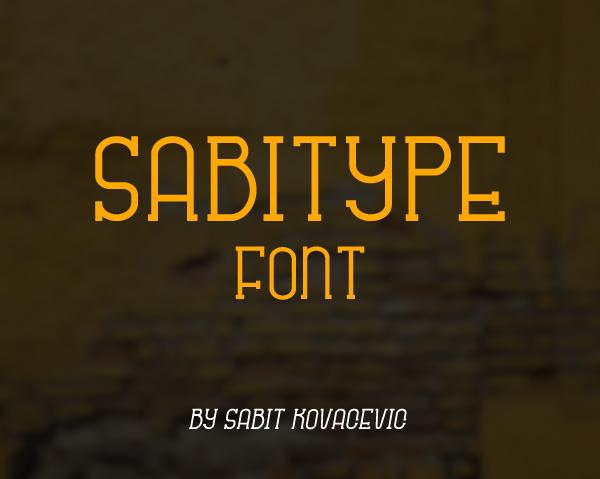 Sabitype Free Font