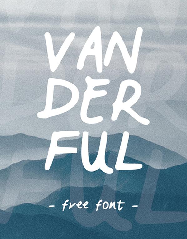Vanderful Free Font