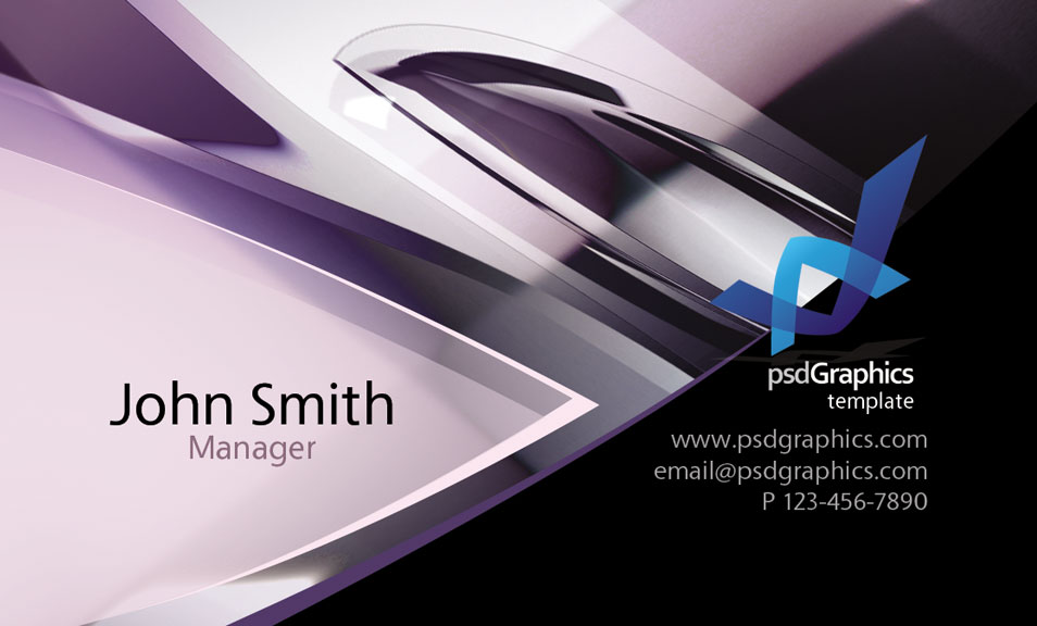 Abstract Hi Tech Design Business Card