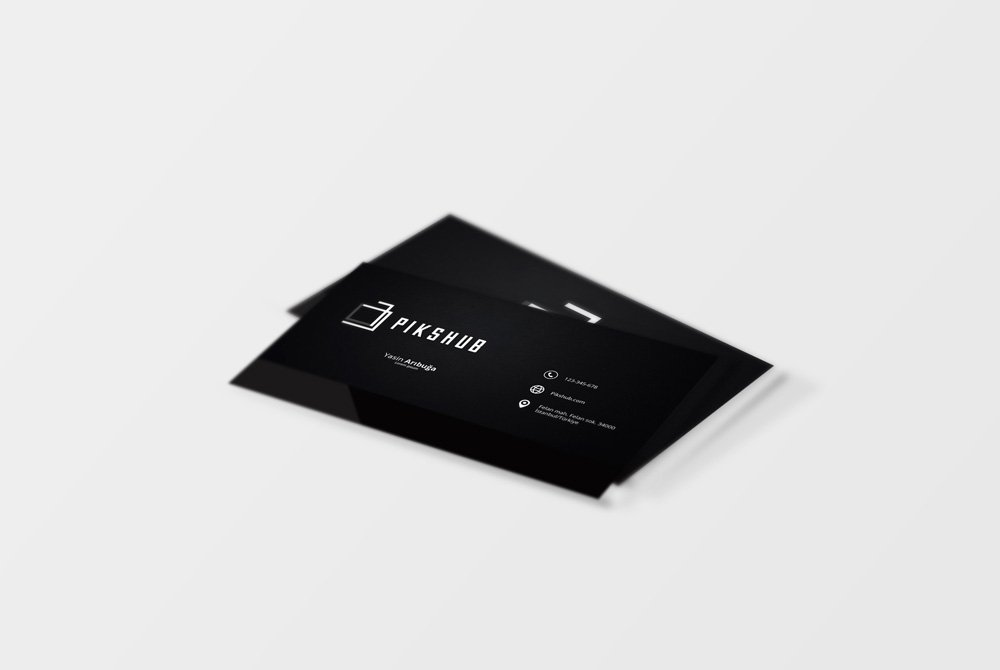 Black Fabric Business Card PSD