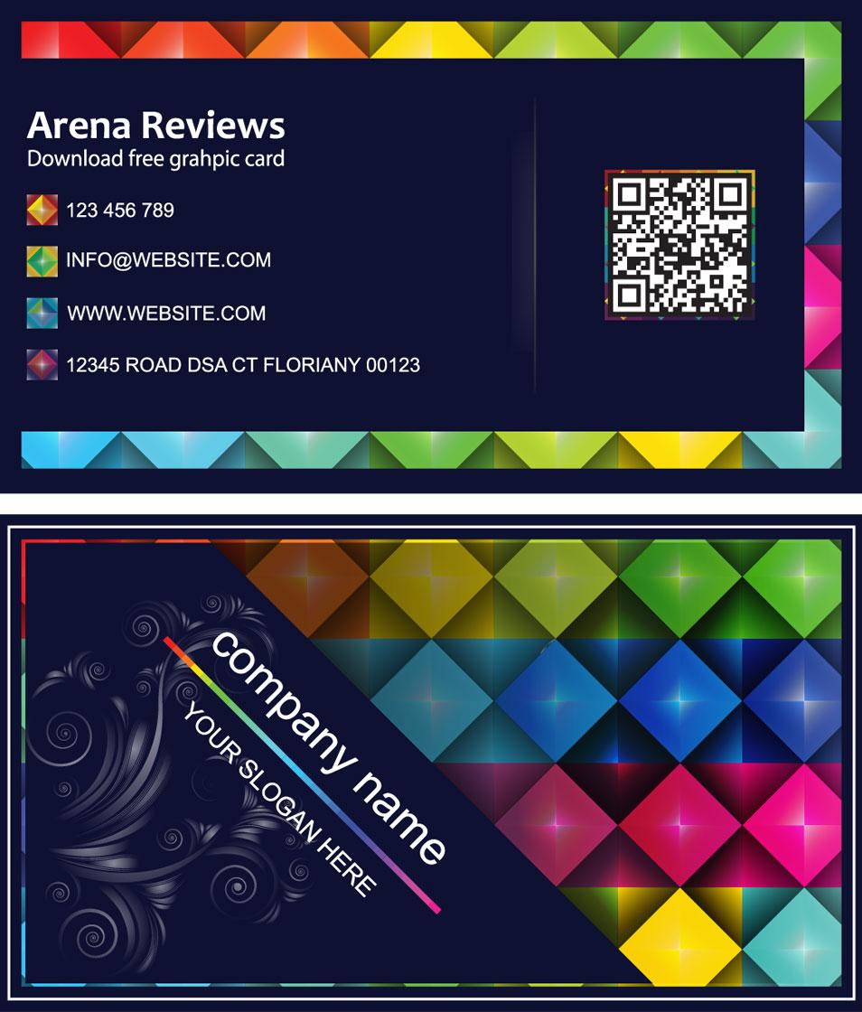 Black Graphic Designer Business Card
