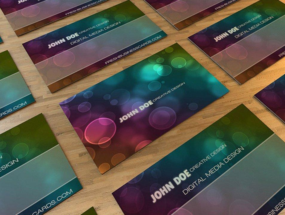 Bokeh Business Card