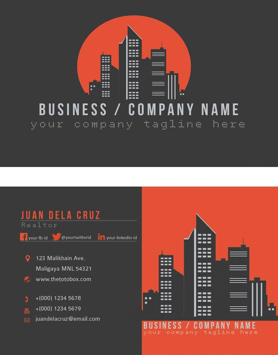 Business Card Templates Skyline