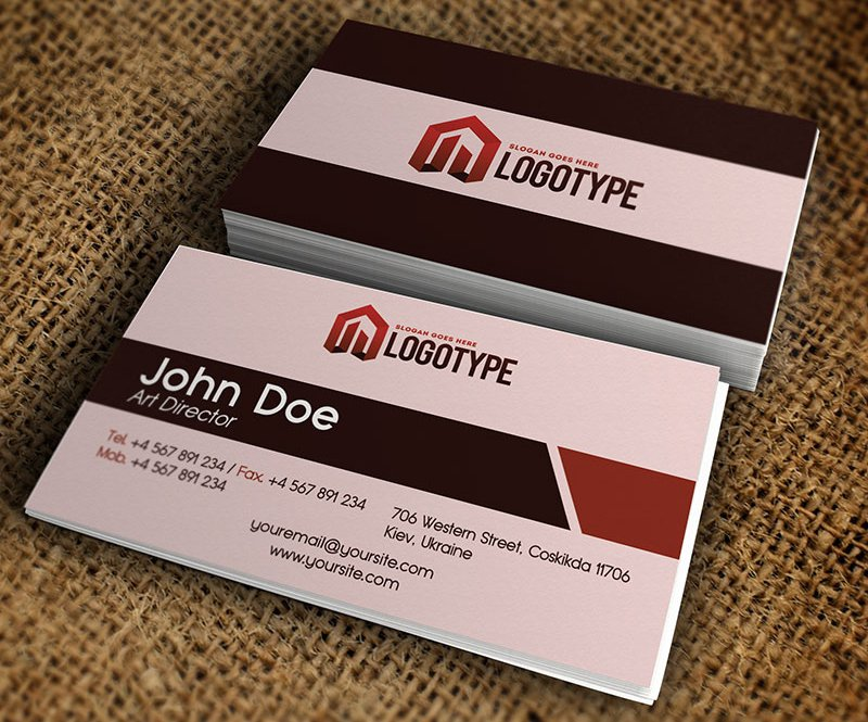 Corporate Brown Business Card PSD