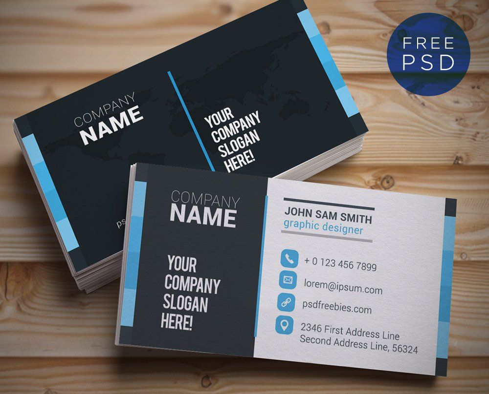 Creative And Clean Business Card Template PSD