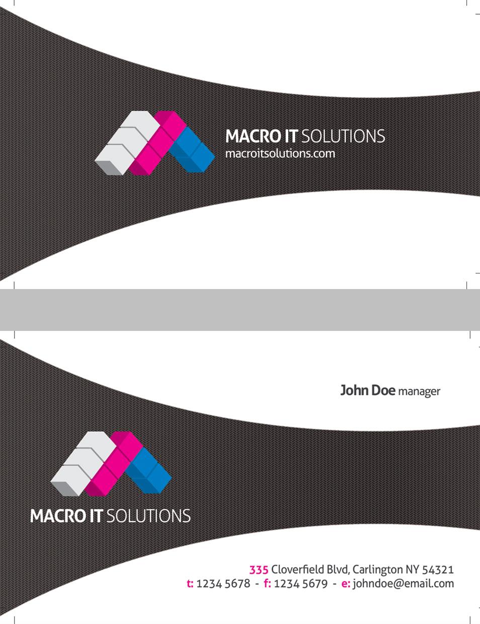 Creative Unique Corporate Business Card Template