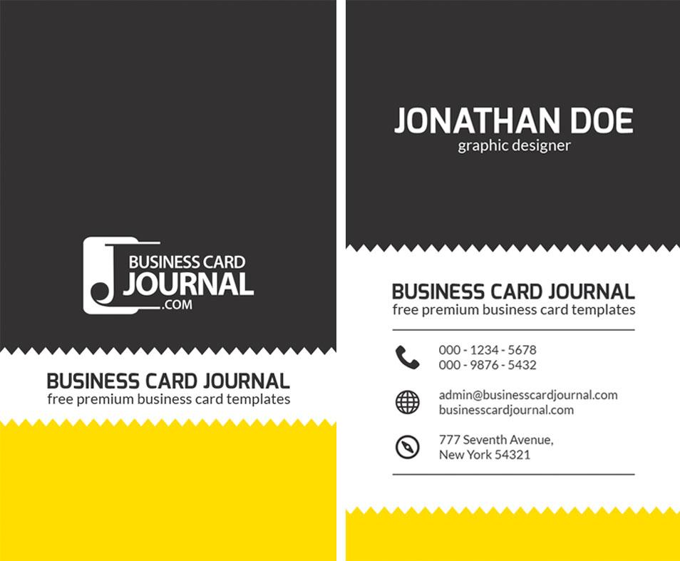 Creative Zigzag Design Business Card Template