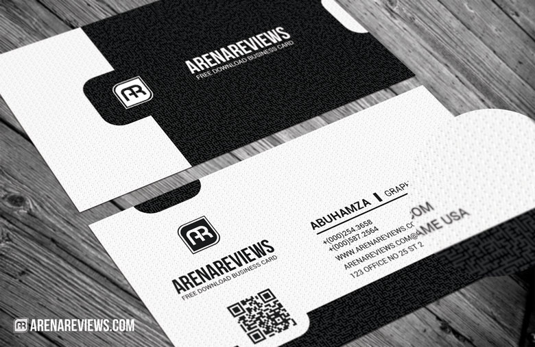 Exquisite Black & White Business Card Template
