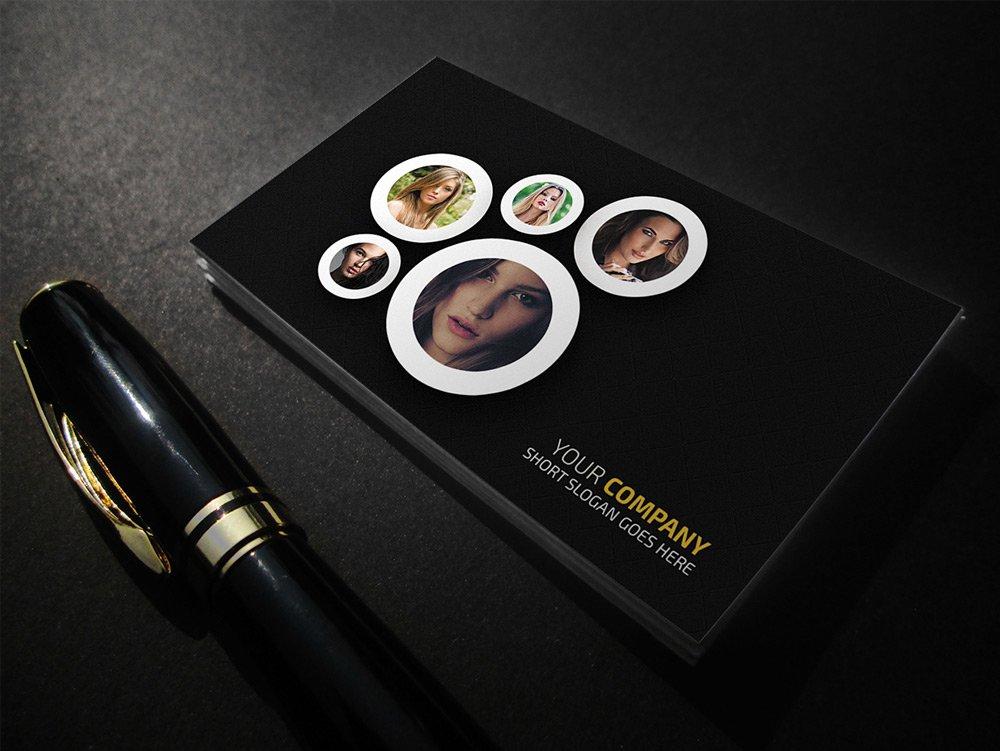 Fashion Photography Business Card PSD
