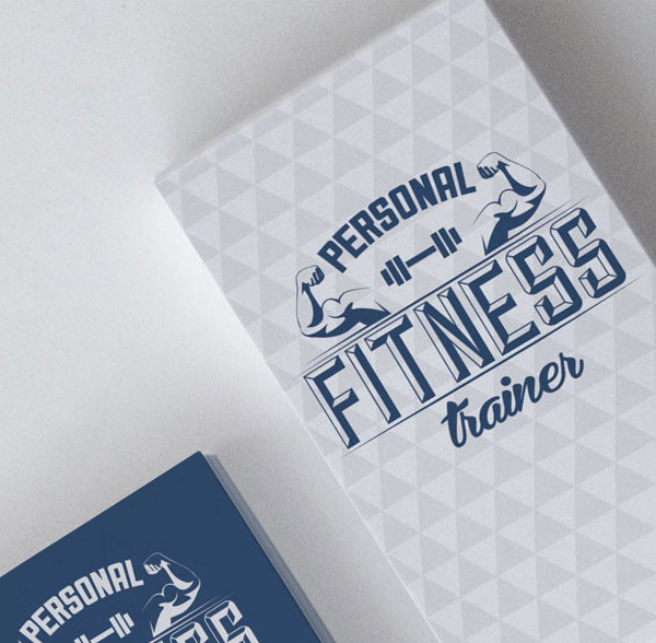 Fitness Trainer Business Cards (PSD, AI, EPS)