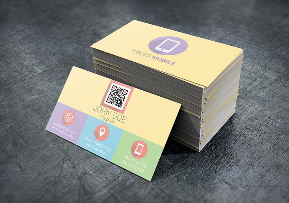 Flat Business Card Design Template