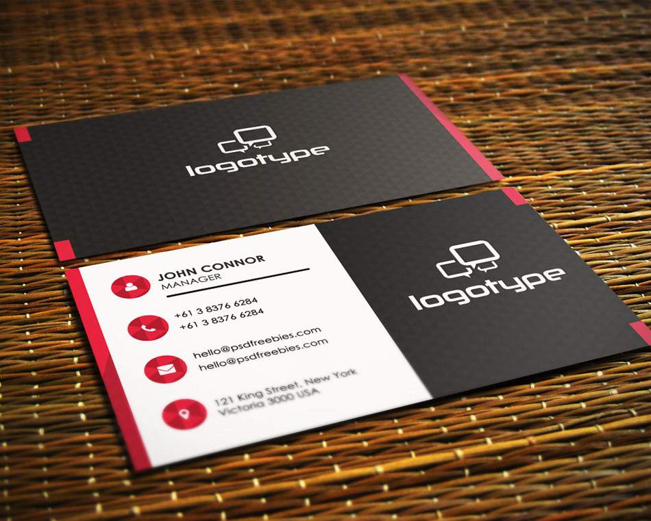 Free Corporate Business Card PSD 7